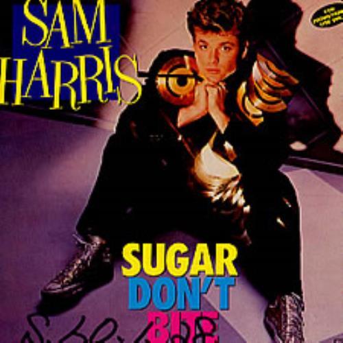 "Sam Harris Sugar Don't Bite 7"" vinyl single (7 inch record) Japanese SRI07SU176655"