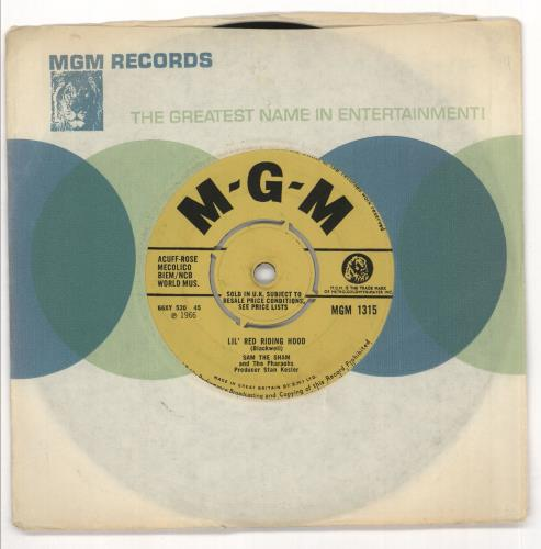 "Sam The Sham & The Pharaohs Lil' Red Riding Hood 7"" vinyl single (7 inch record) UK S4A07LI719764"