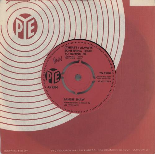 """Sandie Shaw (There's) Always Something There To Remind Me 7"""" vinyl single (7 inch record) UK SDI07TH560281"""