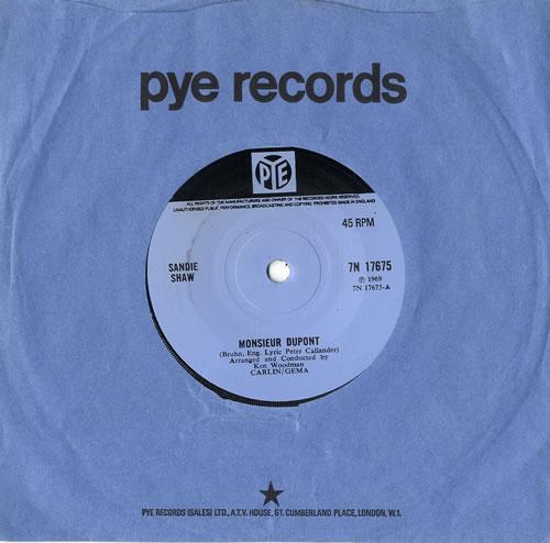 """Sandie Shaw Monsieur Dupont 7"""" vinyl single (7 inch record) UK SDI07MO555641"""