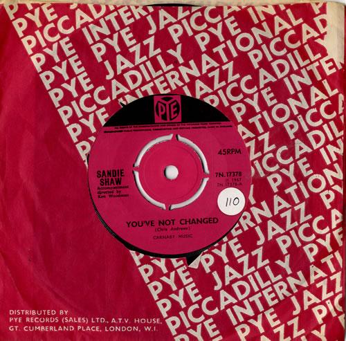 """Sandie Shaw You've Not Changed - 4pr 7"""" vinyl single (7 inch record) UK SDI07YO585824"""