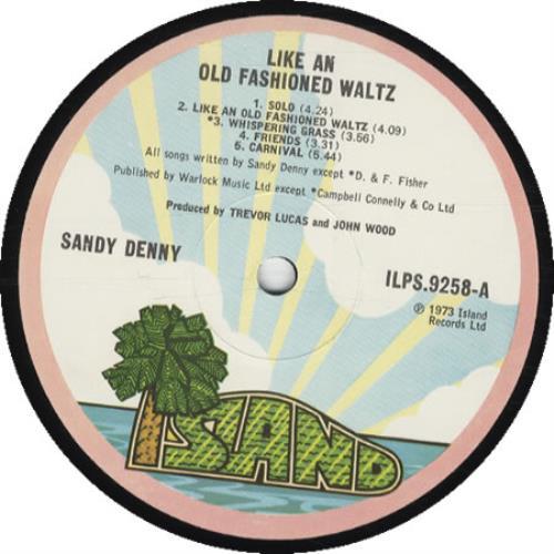 Sandy Denny Like An Old Fashioned Waltz - 1st vinyl LP album (LP record) UK SNYLPLI142169