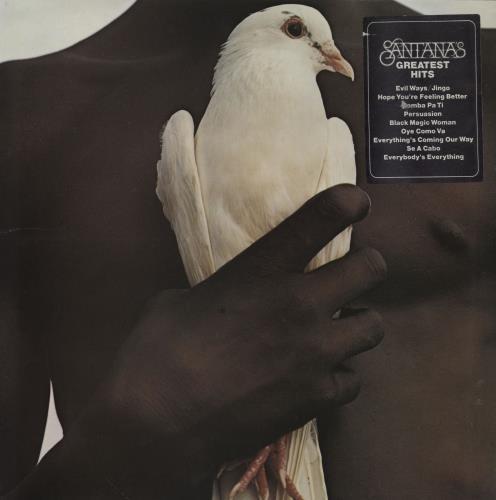 Santana Santana's Greatest Hits - 1st - stickered p/s vinyl LP album (LP record) UK SNTLPSA760560