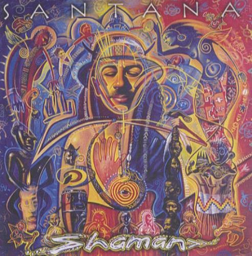 Santana Shaman CD-R acetate UK SNTCRSH226823