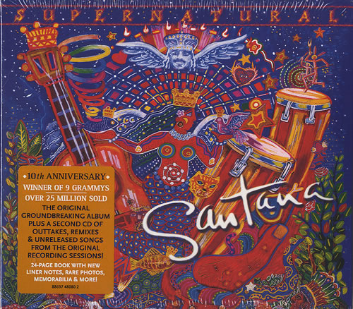 santana supernatural uk 2 cd album set double cd 495668