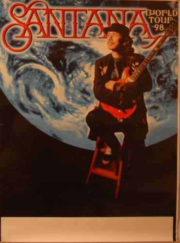 Santana World Tour 98 poster UK SNTPOWO649613