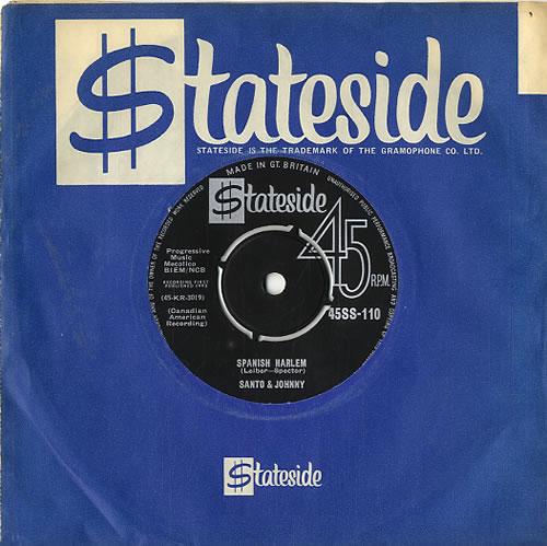 "Santo And Johnny Spanish Harlem 7"" vinyl single (7 inch record) UK SJD07SP613584"