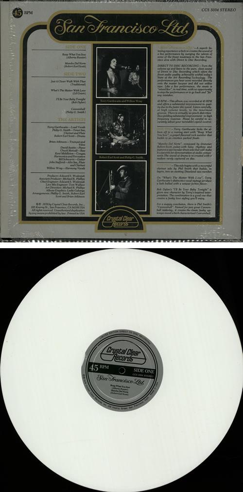 San Francisco Ltd San Francisco Ltd - White Vinyl vinyl LP album (LP record) US SGPLPSA642795
