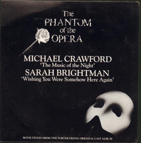 "Sarah Brightman Wishing You Were Somehow Here Again 7"" vinyl single (7 inch record) Australian SAH07WI659210"