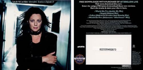 Sarah McLachlan Afterglow Remixes Digital EP memorabilia US MCLMMAF320352