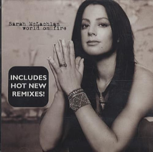 "Sarah McLachlan World On Fire CD single (CD5 / 5"") US MCLC5WO303676"
