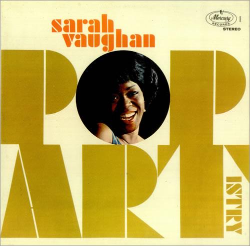 Sarah Vaughan Pop Artistry vinyl LP album (LP record) UK VAALPPO456040