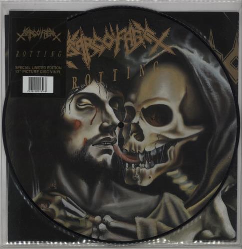 Sarcofago Rotting picture disc LP (vinyl picture disc album) Brazilian WGUPDRO659081