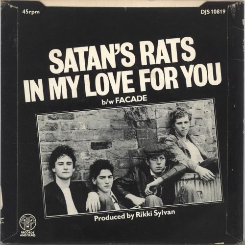 """Satan's Rats In My Love For You + Sleeve 7"""" vinyl single (7 inch record) UK YFW07IN701153"""