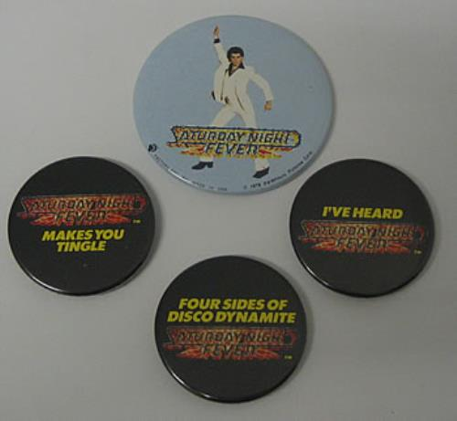 Saturday Night Fever (movie) Badge Set badge UK $NFBGBA351925