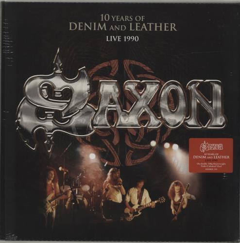 Saxon 10 Years Of Denim And Leather: Live 1990 - Sealed 2-LP vinyl record set (Double Album) UK SAX2LYE686881