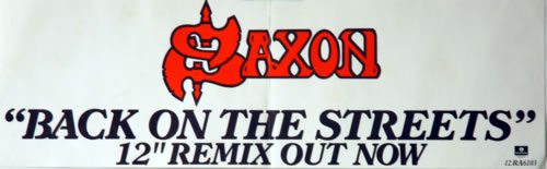 Saxon Back On The Streets - Pair of Posters poster UK SAXPOBA622388