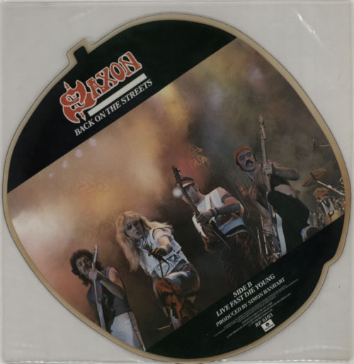 Saxon Back On The Streets shaped picture disc (picture disc vinyl record) UK SAXSHBA01199