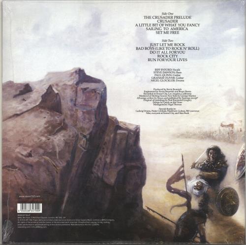 Saxon Crusader - White, Blue & Black Vinyl - Sealed vinyl LP album (LP record) UK SAXLPCR697157