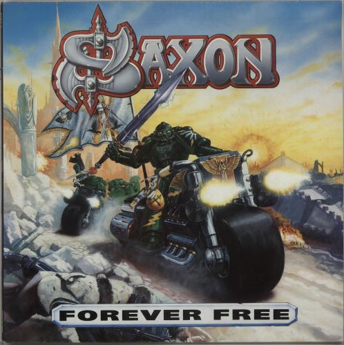 Saxon Forever Free vinyl LP album (LP record) UK SAXLPFO667198