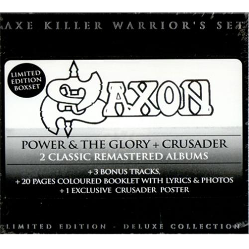 Saxon Power & The Glory / Crusader 2 CD album set (Double CD) French SAX2CPO418102