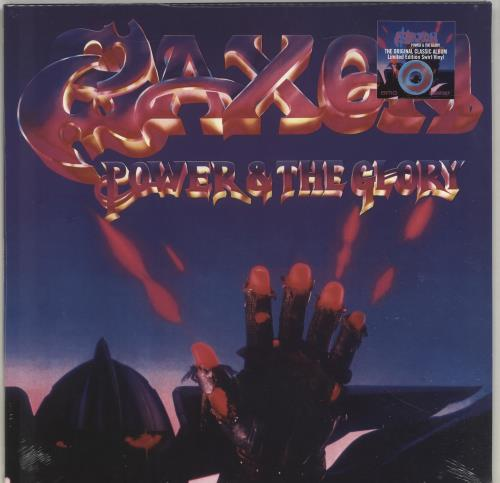 Saxon Power & The Glory - Blue & Pink Vinyl - Sealed vinyl LP album (LP record) UK SAXLPPO697156