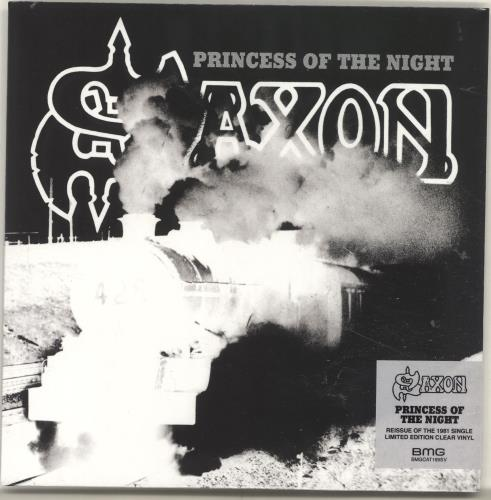 "Saxon Princess Of The Night - RSD18 - Clear Vinyl - Sealed 7"" vinyl single (7 inch record) UK SAX07PR694812"