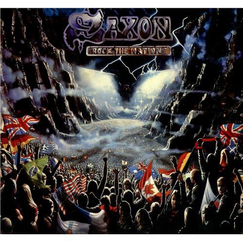 Saxon Rock The Nation vinyl LP album (LP record) UK SAXLPRO418556