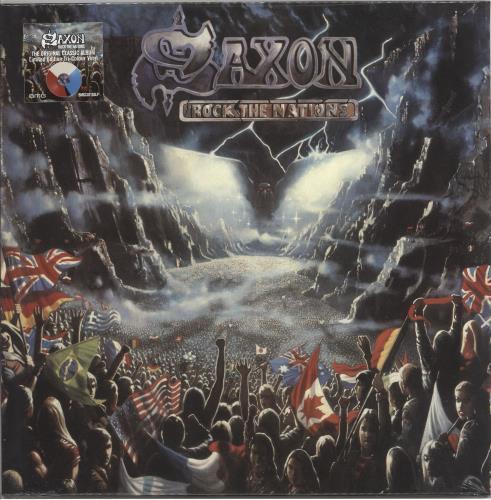 Saxon Rock The Nations - Tri-Colour Vinyl - Sealed vinyl LP album (LP record) UK SAXLPRO720825