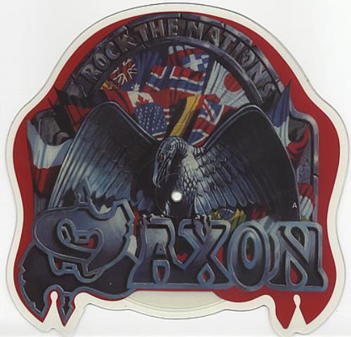 Saxon Rock The Nations shaped picture disc (picture disc vinyl record) UK SAXSHRO19080