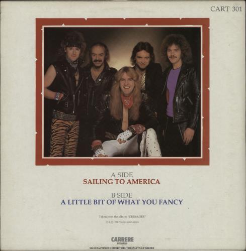 "Saxon Sailing To America - Autographed (3 Signatures) 12"" vinyl single (12 inch record / Maxi-single) UK SAX12SA750813"