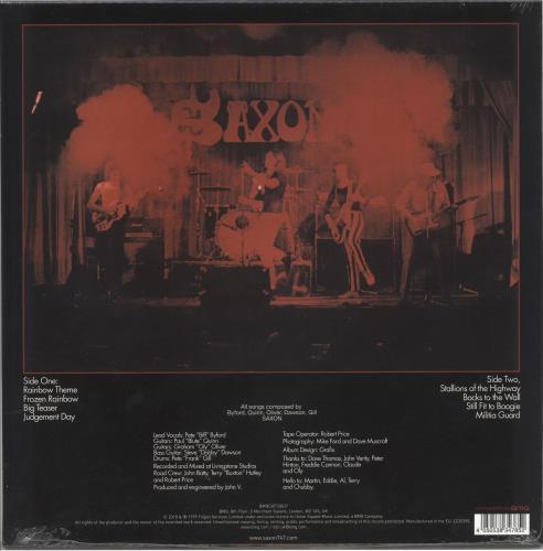 Saxon Saxon - Blue & Red Splatter Vinyl - Sealed vinyl LP album (LP record) UK SAXLPSA720829