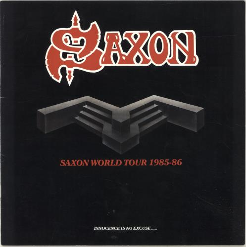 Saxon Saxon World Tour 1985-86 tour programme UK SAXTRSA694035