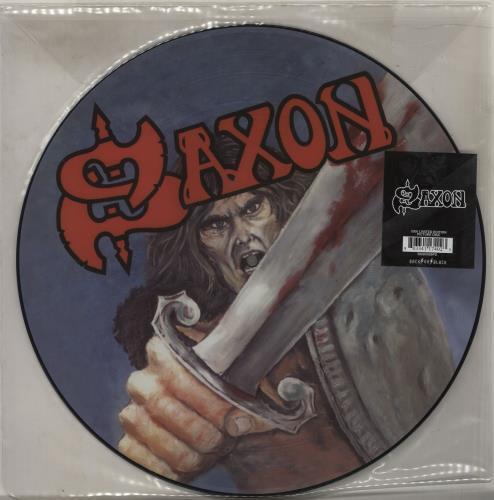 Saxon Saxon picture disc LP (vinyl picture disc album) UK SAXPDSA762988