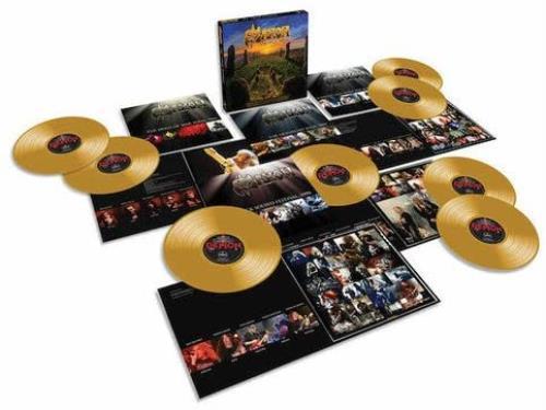 Saxon The Vinyl Hoard - 180gram Gold Vinyl + Signed Print Vinyl Box Set UK SAXVXTH695866
