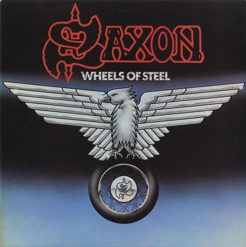 Saxon Wheels Of Steel vinyl LP album (LP record) UK SAXLPWH455042