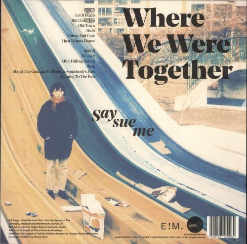 Say Sue Me Where We Were Together - Turquoise Vinyl + Autographed vinyl LP album (LP record) UK YG-LPWH704154