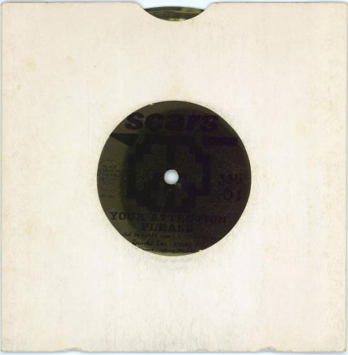 """Scars Your Attention Please - Flexi 7"""" vinyl single (7 inch record) UK ARS07YO624743"""