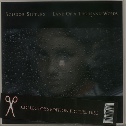 Scissor Sisters Land Of A Thousand Words shaped picture disc (picture disc vinyl record) UK SS1SHLA381524