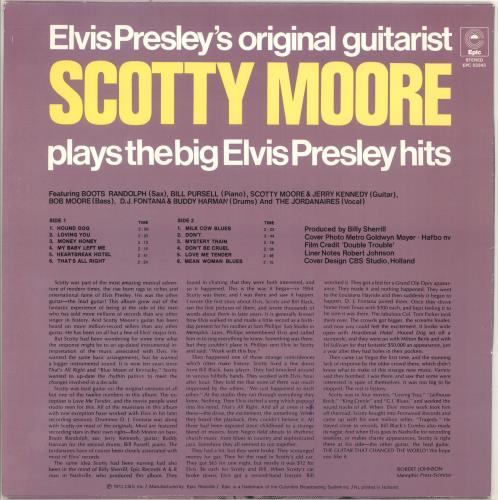 Scotty Moore Elvis Presley's Original Guitarist Scotty Moore Plays The Big Elvis Presley Hits vinyl LP album (LP record) Dutch SM5LPEL707831