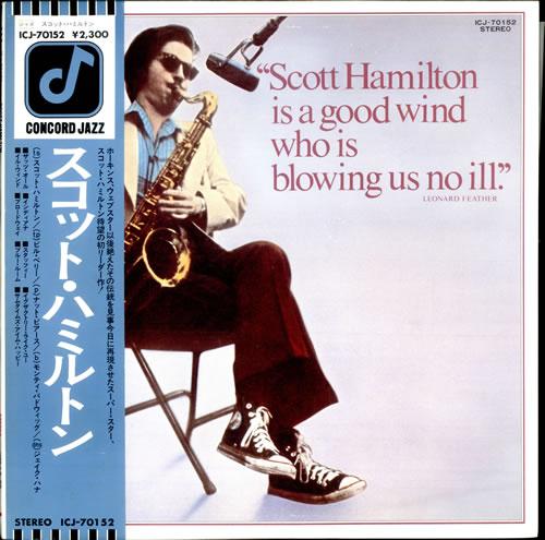 Scott Hamilton Scott Hamilton vinyl LP album (LP record) Japanese HM2LPSC509096