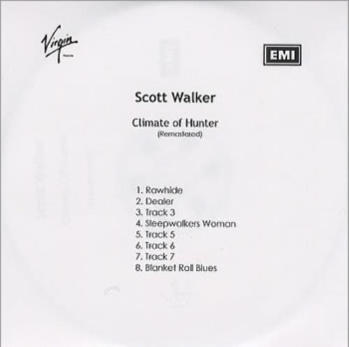 Scott Walker Climate Of Hunter CD-R acetate UK SWLCRCL355433