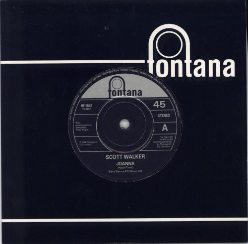 "Scott Walker Joanna + Promo Insert 7"" vinyl single (7 inch record) UK SWL07JO767137"