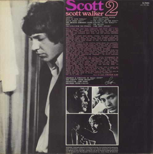 Scott Walker Scott 2 + Insert - EX vinyl LP album (LP record) UK SWLLPSC464309