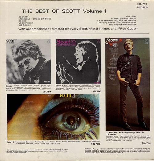Scott Walker The Best Of Scott Volume 1 vinyl LP album (LP record) UK SWLLPTH330840