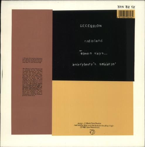 "Secession Radioland 12"" vinyl single (12 inch record / Maxi-single) UK XFJ12RA651505"