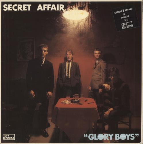 Secret Affair Glory Boys - Stickered Slv + Lyric Insert & flyer vinyl LP album (LP record) UK AFFLPGL729714