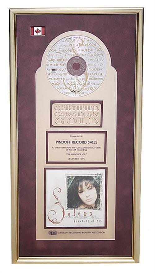 Selena Dreaming Of You award disc Canadian SLNAWDR447227