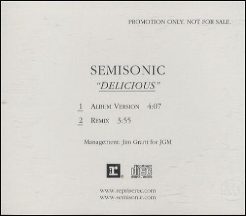 """Semisonic Delicious CD single (CD5 / 5"""") US ONCC5DE254067"""