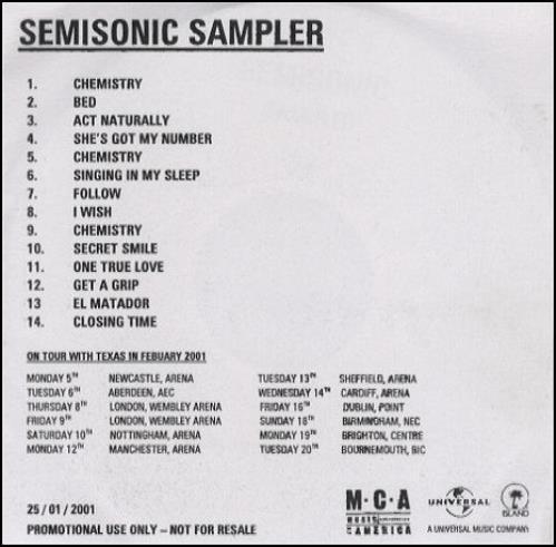 Semisonic Sampler CD-R acetate UK ONCCRSA197687